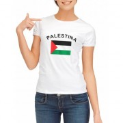 Shoppartners T-shirt met Palestijnse vlag print voor dames