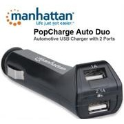 Manhattan PopCharge Auto Duo - Automotive USB