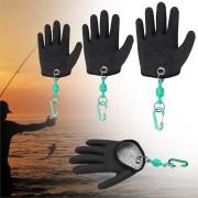 1 Pcs Fishing Glove Safety Magnet Release Keychain Fishing Right Hand Protection Gloves