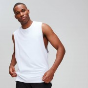 Myprotein Luxe Classic Drop Armhole Tank Top - White - L