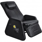 vidaXL Fotoliu masaj electric Zero Gravity, piele artificială, negru