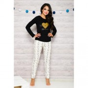 Gala pyjama met broek zwart