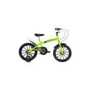 Bicicleta Infantil Aro 16 Dino Amarelo Neon Masculina Track