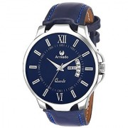 Armado Analogue Blue Dial Mens Watch (Ar-042-Blu)