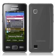 Samsung S5260 Star II Силиконов Калъф Черен + Протектор