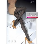 Fiore - Trendy floral pattern tights Agnes 40 DEN