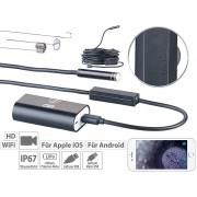 Somikon WiFi-HD-Endoskop-Kamera für iOS- und Android-Mobilgeräte, 10 m