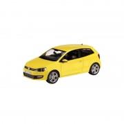 Bburago Model auto Volkswagen Polo GTI Mark 5 geel 1:43
