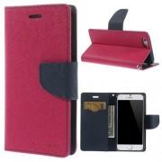 MERCURY pink-sötétkék notesz tok Apple iPhone 6 / iPhone 6s telefonhoz