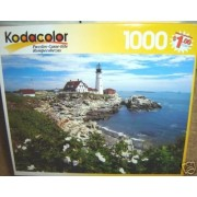 Kodacolor White Roses At Portland Head, Maine 1000 Piece Puzzle By Rose Art