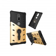 For Lenovo Phab2 Plus Shock-resistant 360 Degree Spin Sniper Hybrid Case Tpu + Pc Combination Case With Holder(gold)