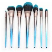 Rombo azul negro degradado Brush Set de Maquillaje