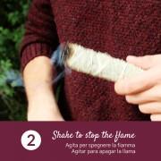 Portachiavi Palo Santo a forma di Cuore