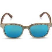 Caprio Retro Square Sunglasses(Blue)