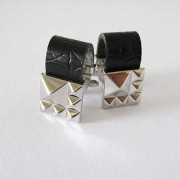 Distino Of Melbourne Pelle Leather Band Cufflinks C36