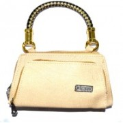 Pin to Pen Casual Gold Clutch