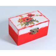 Cutiuta din lemn - maci - 7329