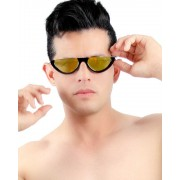 The Well Branded Cat Eye Yellow To Red Gradient Party Shades Sunglasses