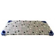Bolyhos kötött műszálas rugalmas textil 160 cm széles - meleg barna árnyalatban