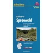 Fietskaart BRA09 Bikeline Radkarte Spreewald | Esterbauer