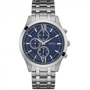 GUESS Silver Stainless Steel Round Dial Quartz Watch For Men (W0875G1)