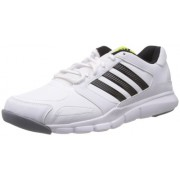 adidas Men's Essential Star M Run White, Black and Solsli Mesh Multisport Training Shoes - 11 Uk