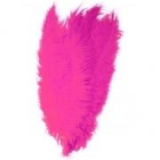 Merkloos 10x Pieten veren/struisvogelveren fuchsia roze 50 cm verkleed ac
