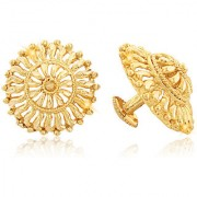 Vighnaharta Traditional 1gm Gold South Screw Back Alloy Gold and Micron Plated Stud Earring- VFJ01120ERG