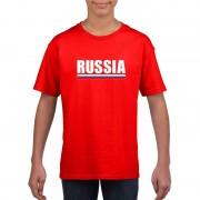 Bellatio Decorations Rood Rusland supporter t-shirt voor kinderen