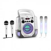 Kara Liquida grau + Dazzl Mic Set Karaokeanlage Mikrofon LED-Beleuchtung