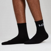 Myprotein Essentials Men's Crew Socks - Black (2 Pack) - UK 9-12/EU 42-46