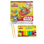 Play Doh Star Wars Luke Skywalker And R2 D2 Can Heads & Play Doh Box O Color Bundle Set ~ Bonus 2pc Modelling Tools