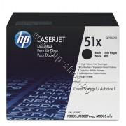 Тонер HP 51X за P3005/M3027/M3035 2-pack (2x13K), p/n Q7551XD - Оригинален HP консуматив - к-т 2 тонер касети