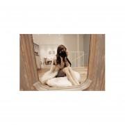 Chaleco De Piel Sintética Para Mujer-Blanco