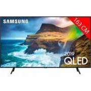 Samsung TV QLED 4K 163 cm SAMSUNG QE65Q70R - Full LED Silver - HDR 1000 - Smart TV