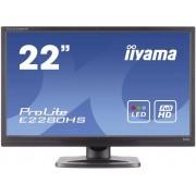 LED-monitor 54.6 cm (21.5 inch) Iiyama E2280HS-B1 Energielabel B 1920 x 1080 pix Full HD 5 ms DVI, VGA, HDMI TN LED