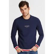 Guess blu da uomo felpa Front Logo Sweatshirt - M