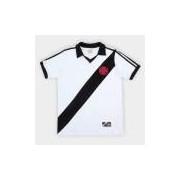 Camiseta Vasco Da Gama Retro Mania 1988 Masculina - Masculino Branco+Preto