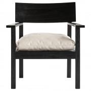 Loungestol i accoya behandlat trä, 65 x 68 x H 78 cm, svart Tine K Home