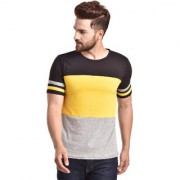 PAUSE Multi Solid Cotton Round Neck Slim Fit Short Sleeve Men's Knitted T-Shirt
