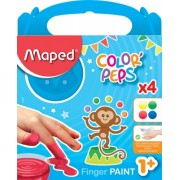 Set pictura cu degetele Color Peps 4 culori 80 g Maped
