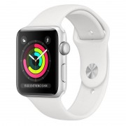 Apple Watch Series 3 GPS 38mm Alumínio Prata Com Correia Desportiva Branca