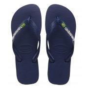 Havaianas Slippers Kids Flipflops Brasil Logo Blauw