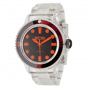 EOS New York Neo Plastik Watch Clear/Orange 358SORGCLR