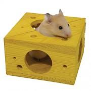 Rosewood Pet Sleep 'n' Play Cheese Hamster & Small Animal Toy