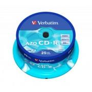 CD-R lemez, Crystal bevonat, AZO, 700MB, 52x, hengeren VERBATIM DataLife Plus (CDV7052B25)