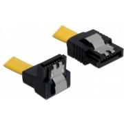 Delock Cable SATA 6 Gb/s male straight > SATA male down 30 cm yellow metal