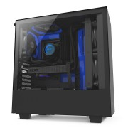 NZXT H500 Side window, must/sinine, ATX, toiteplokk included No