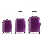Redland '60TWO Collection' Hardsided Trolley Suitcase Set - Purple - 75/65/55cm (3 Piece)