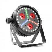 Beamz BX30 PAR LED-Strahler 3x10W 4in1, 27x SMD W, 18x SMD RBG LEDs schwarz